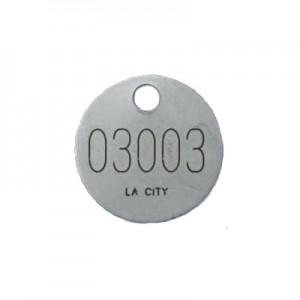 laser etched valve tag
