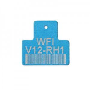 blue valve tag