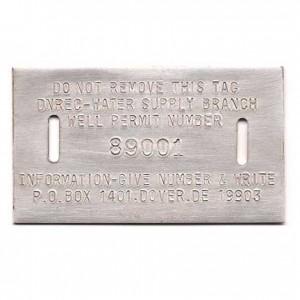 aluminum well tag
