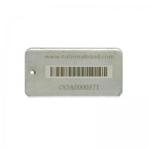stainless tag linear bar code