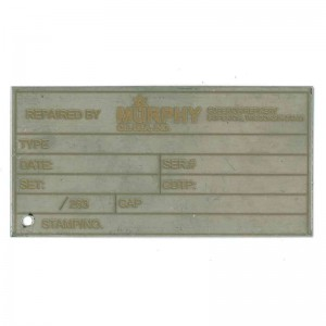 engraved inspection tag