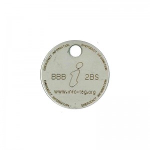 engraved logo on tag
