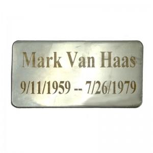 stainless steel memorial tag