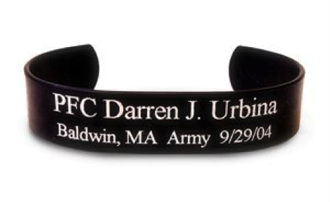 black aluminum hero bracelet