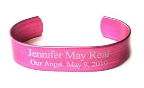 pink aluminum hero bracelet