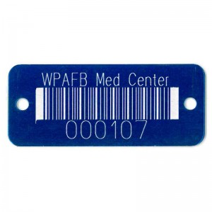 blue engraved barcode