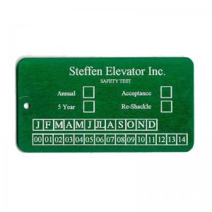 elevator inspection tag