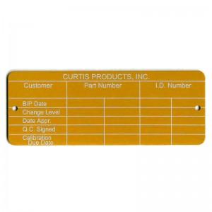 orange inspection tag