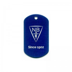 dog tag with logo