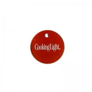 round engraved logo tag