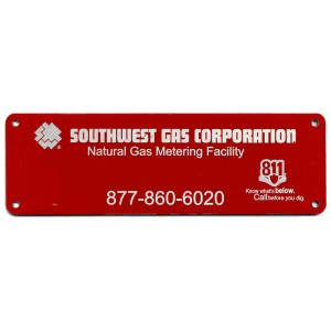 company asset tag engraved