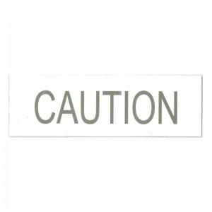white caution tag