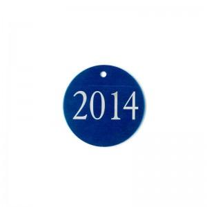blue laser engraved tag