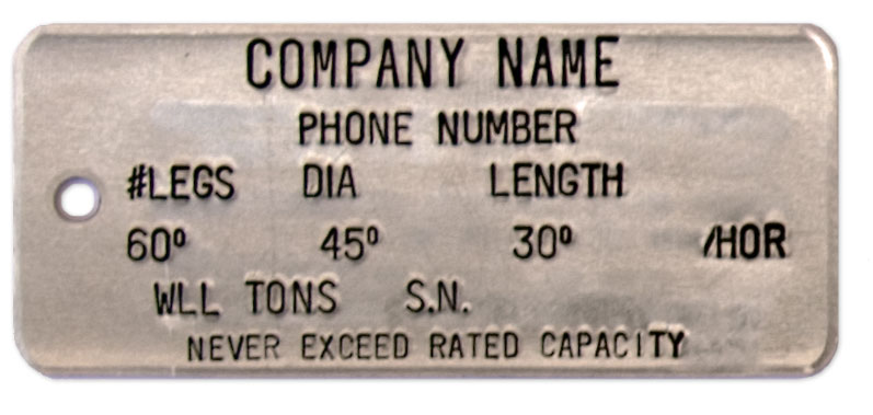 wire rope tag