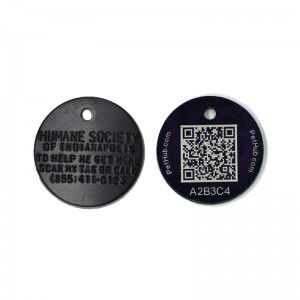 stamped and qr code dog tag