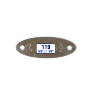 Oblong Oval Tag Style 119