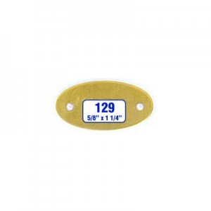 Oblong Oval Tag Style 129