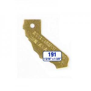 California Tag Style 191