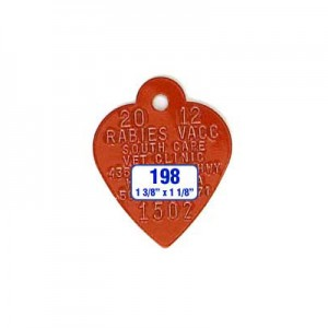 Red Heart Rabies Tag Style 198