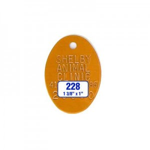 Orange Oval Rabies Tag Style 228