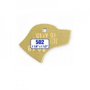 Dog Shaped Tag Style 502