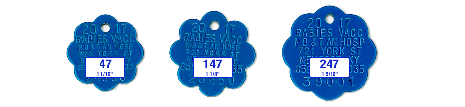 rosette rabies tags