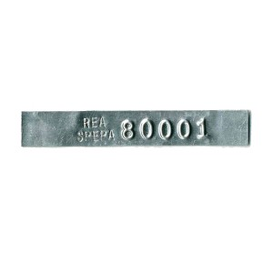 embossed and stamped tag