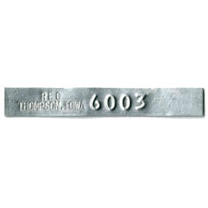 thin embossed tag