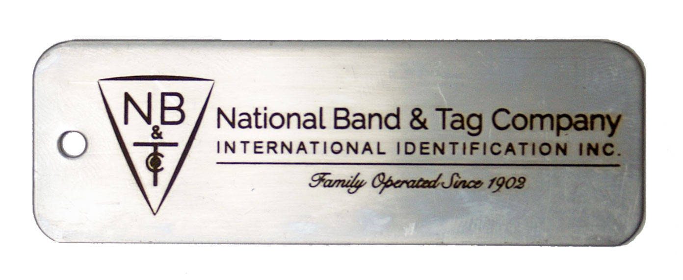 engraved tag dry tumbled