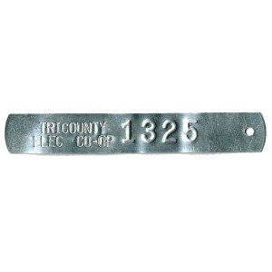 stamped and embossed tag