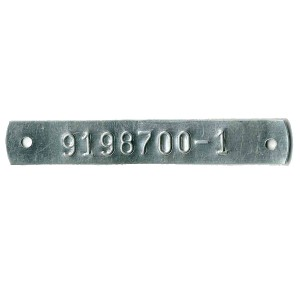 embossed thin tag