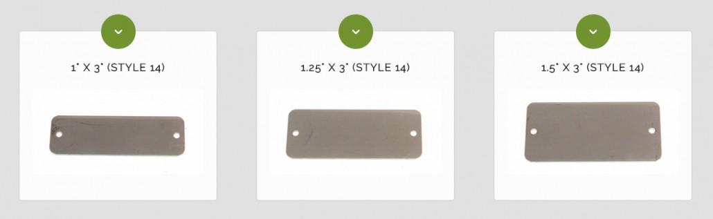 stainless steel rectangular blank tags