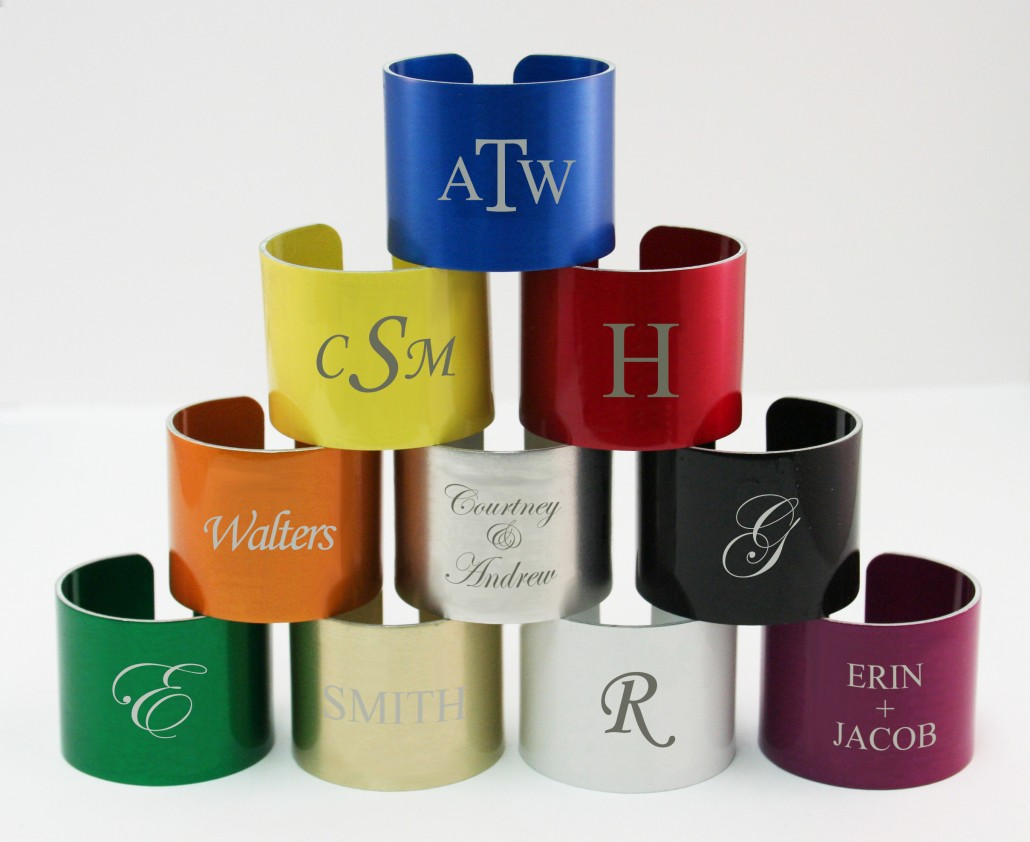 custom engraved napkin rings