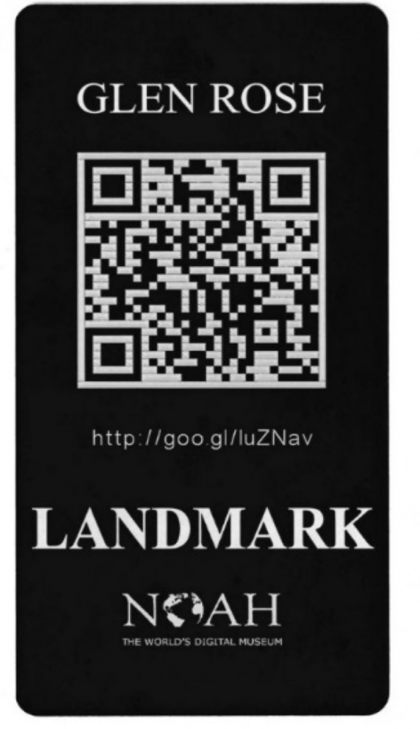 landmark tag with qr code