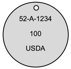 USDA Dog Tag