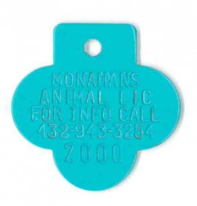 turquoise tag