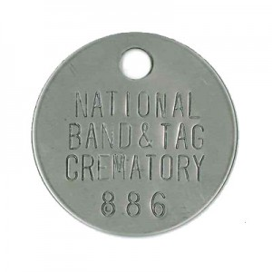 cremation ID tag