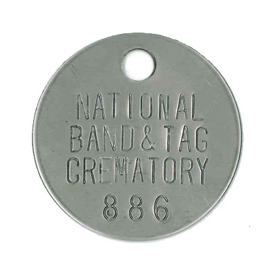 crematory tags cremation id tags national band and tag company