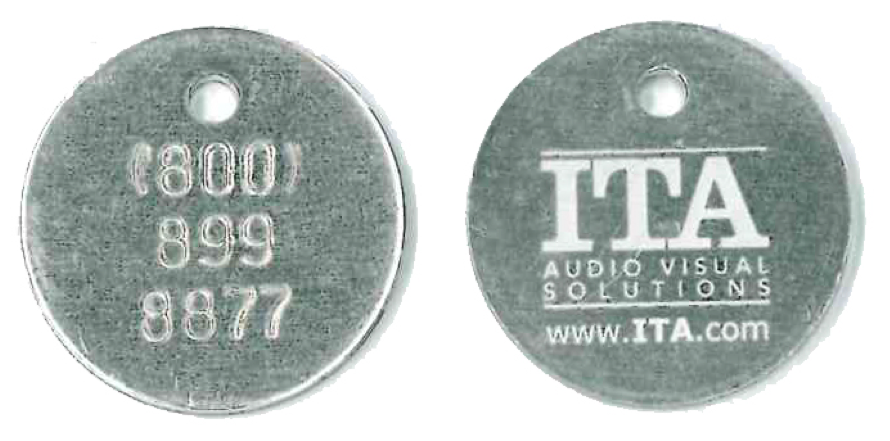 stamped and laser etched hybrid tag