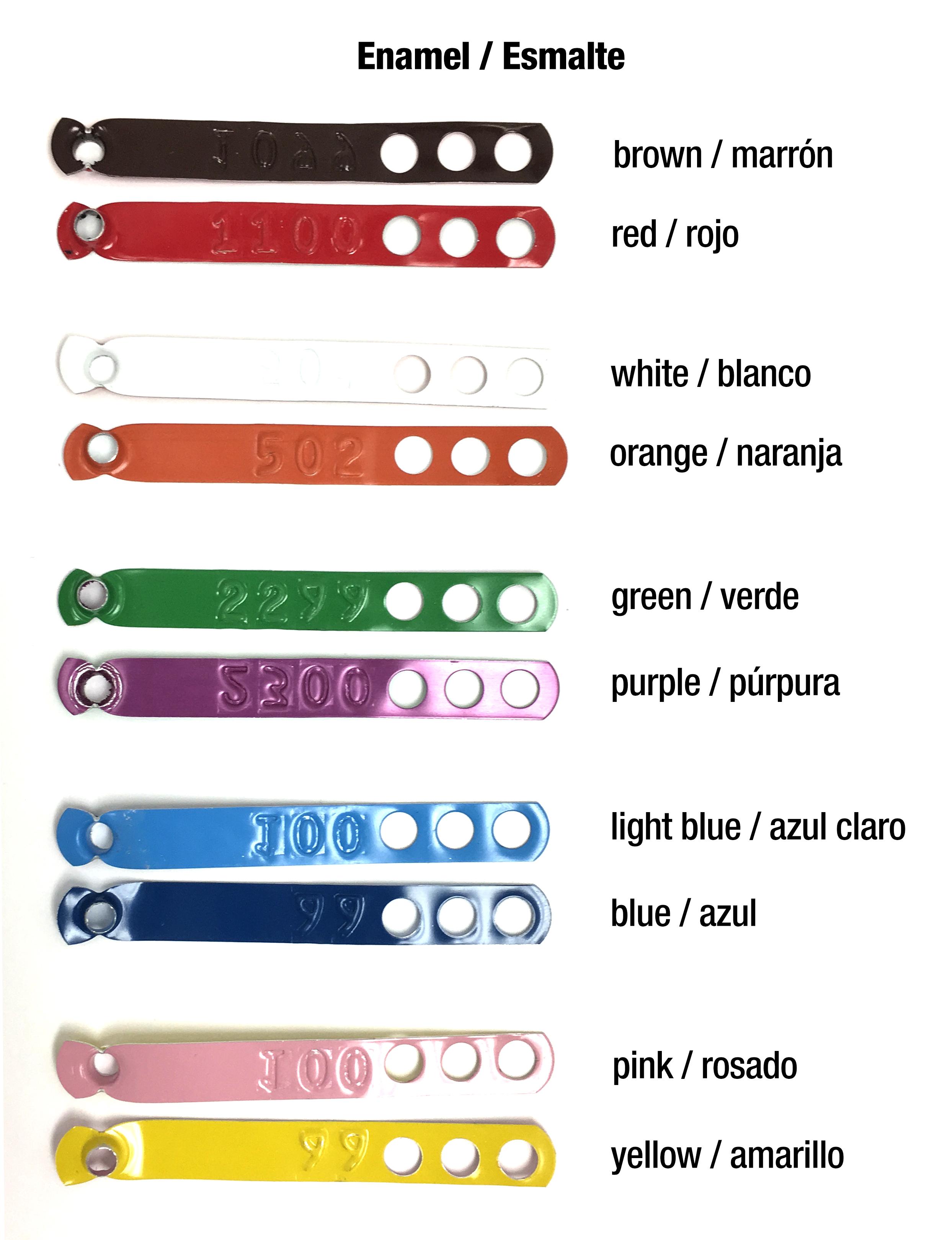 enamel legband colors