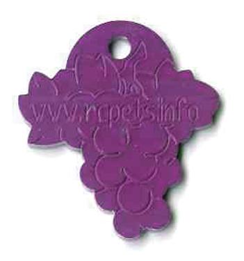 grapes, vineyard ID tag