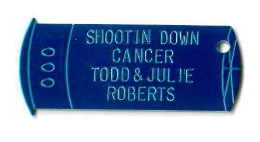 shotgun shell promotional key chain tag
