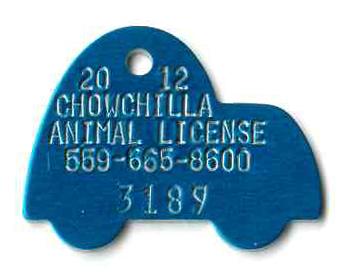 car shaped tag