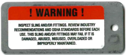 warning label wire rope