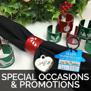 special occasion gifts and promotional tags