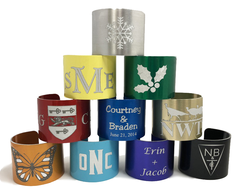 Customized Napkin Rings Style 14nr National Band And Tag Company