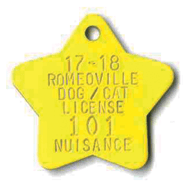 star shaped tag