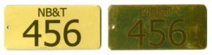 rectangle brass tags with custom text