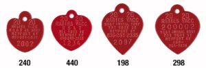 red heart 2020 rabies tags for world rabies day