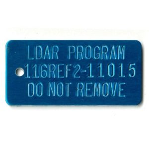 LDAR Valve Tag example for GasTech Show